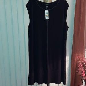 *New* Alfani Plus-Size Sleeveless Black Dress-3X